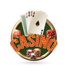 Pocker casino emblem vector image