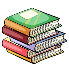 A pile of books vector image