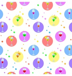 Glasses and bubbles vector