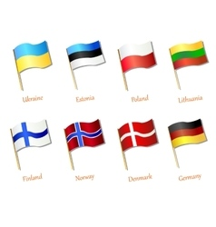 European flag icon vector