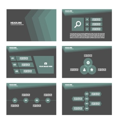 Black theme presentation templates infographic vector