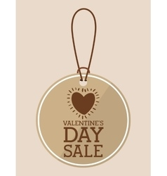 Valentines day sale design vector