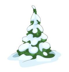cartoon nature tree fir vector image