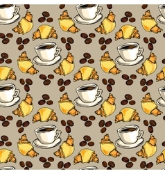 Cappuccino seamless pattern vector image