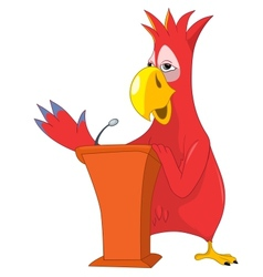 Funny Parrot Presentation vector image