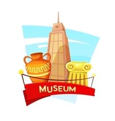 Museum concept design vector