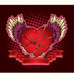 hard heart vector image