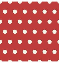 Seamless polka dot pattern background vector image