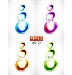 Abstract glass shape composition vector image vector image