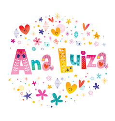 Ana luiza girls name vector