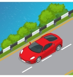 Car isometric Flat 3d vector image vector image