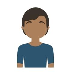 Character man multiethnic blue shirt vector