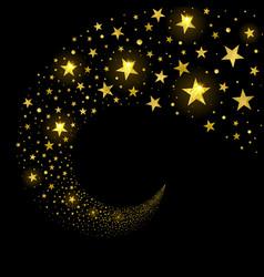 circular stream of sparkling stars vector image