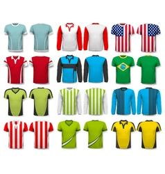 Collection of various shirts design template the vector