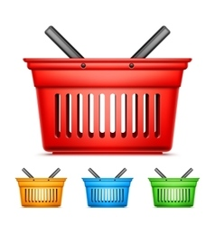 Color Shopping Baskets vector image vector image