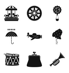 creative children icons set simple style vector image vector image