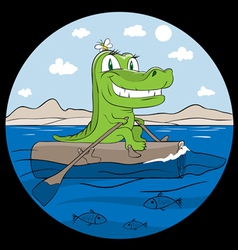 crocodile the traveller vector image vector image