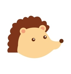 cute purcopine animal icon vector image vector image