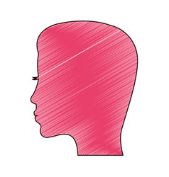 drawing pink profile mother vector image