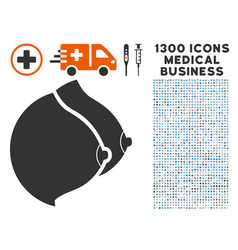 Female tits icon with 1300 medical business icons vector