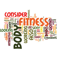 fitness babes text background word cloud concept vector image