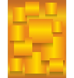 Gold square boards background vector