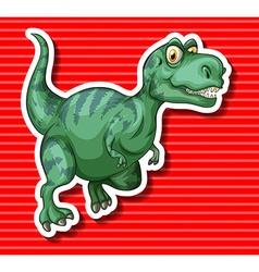 Green t-rex running alone vector