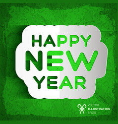 happy new year paper greeting poster vector image vector image