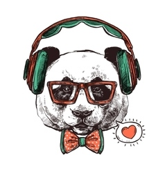 Hipster Portrait Animals vector image vector image