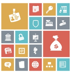 icons tile business job vector image