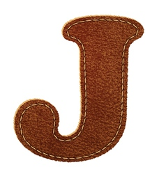 Leather textured letter J vector image