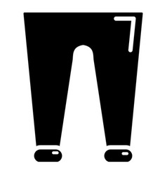 men fashion accesory pants icon simple style vector image