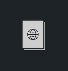 passport icon simple vector image vector image