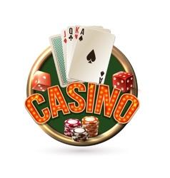 Pocker casino emblem vector image vector image