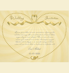 ribbon wedding r3 vector image