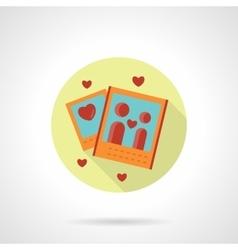 Romantic photo icon flat round style vector image vector image