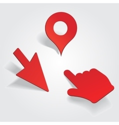 Set of different map pointers vector image vector image