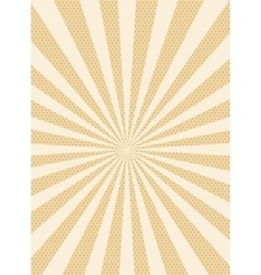 Sun retro dotted background vector image