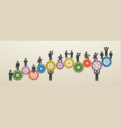 teamwork business people in motion workforce vector image vector image