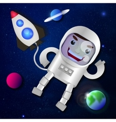 Astronaut in outer space vector