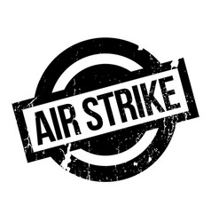air strike rubber stamp vector image