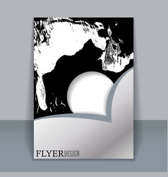 Abstract watercolor style brochure design vector