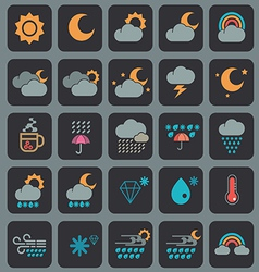 Weather icons design vector