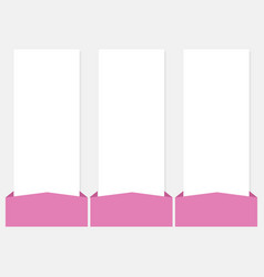 3 options infographics web template set vector