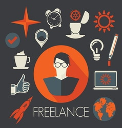 freelance leadership teamwork2 resize vector image