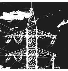 Tower electric closeup vector