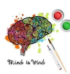 Creativity brain concept vector