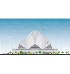 The lotus temple vector