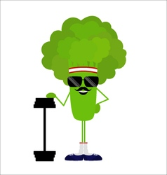 Broccoli athlete heavyweight vector