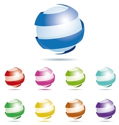Abstract sphere symbol design element vector